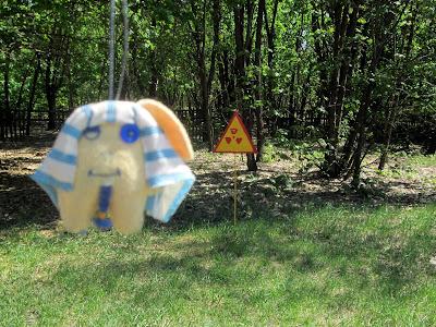Señal de radiación en Chernobyl
