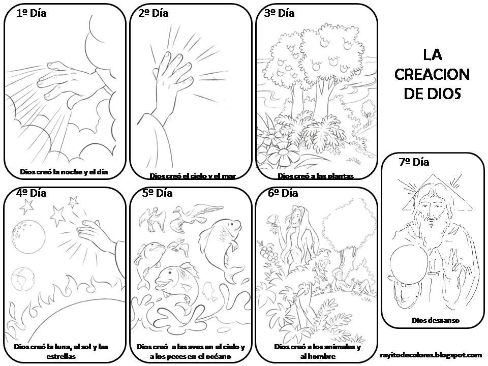 Imagenes De La Creacion Para Colorear. dibujos creación de dios ...