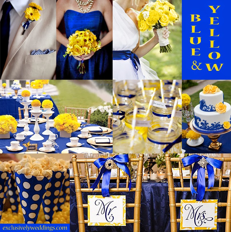 Bride N Groom Wedding Matters Royal Blue And Yellow Wedding Theme