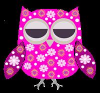 Coruja floral pink - Criação Blog PNG-Free