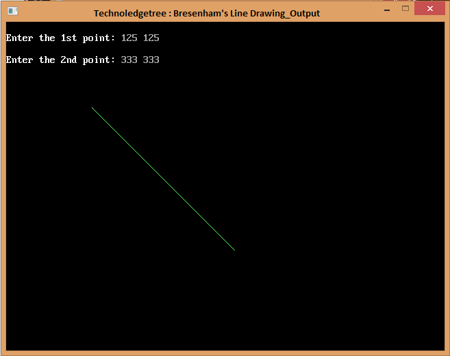 Line Drawing Algorithm With An Example : Write a c program for bresenham s line drawing algorithm
