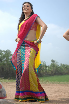 Kajal Agarwal Cute in Rose Half Saree Photos