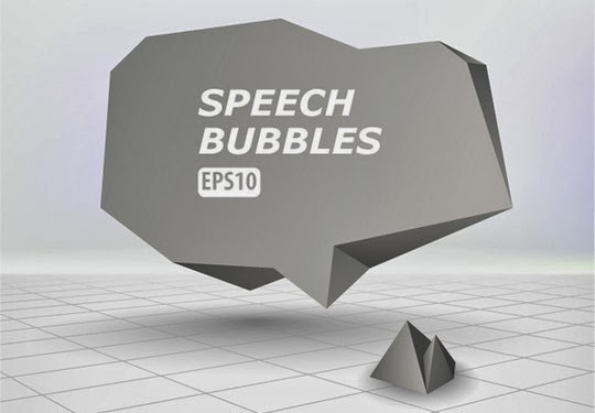 Create an Abstract Speech Bubble