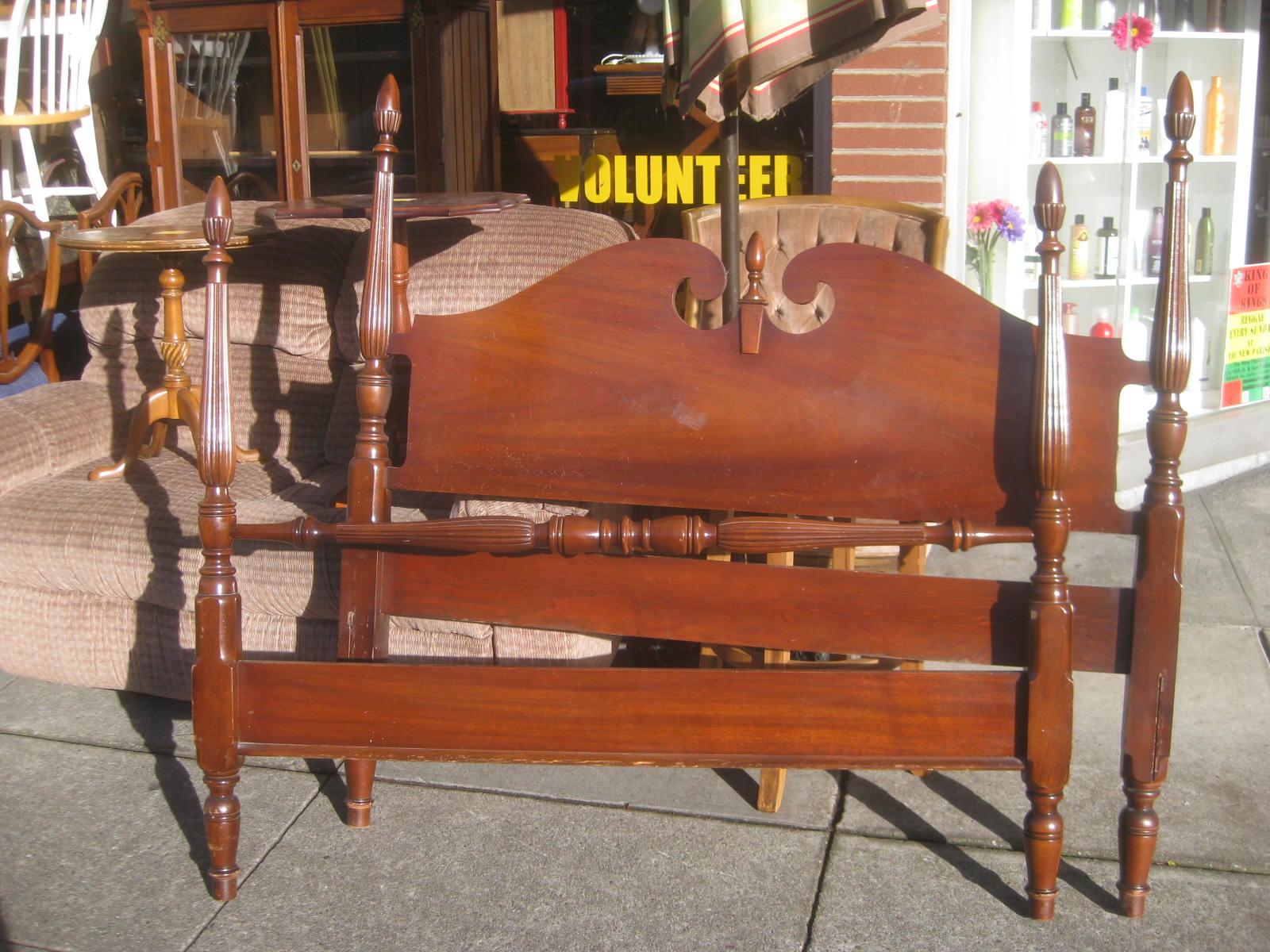 sold mahogany full bed frame 80 - Mahogany Bed Frame