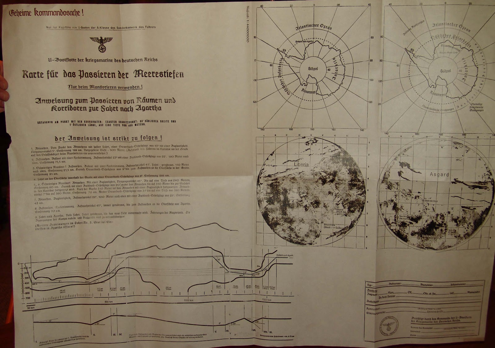 Nazi Antarctica map