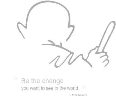 Mahatma Gandhi Skatch Wallpaper
