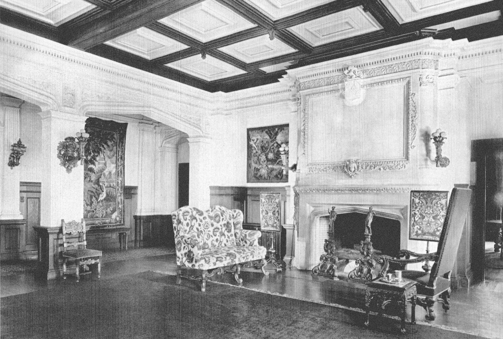 half pudding half sauce the living room house of charles head esq manchester by the sea herbert d hale architect