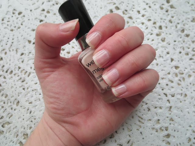 a picture of Wet n Wild Mega Last Nail Color in Sugar Coat (one coat swatch)