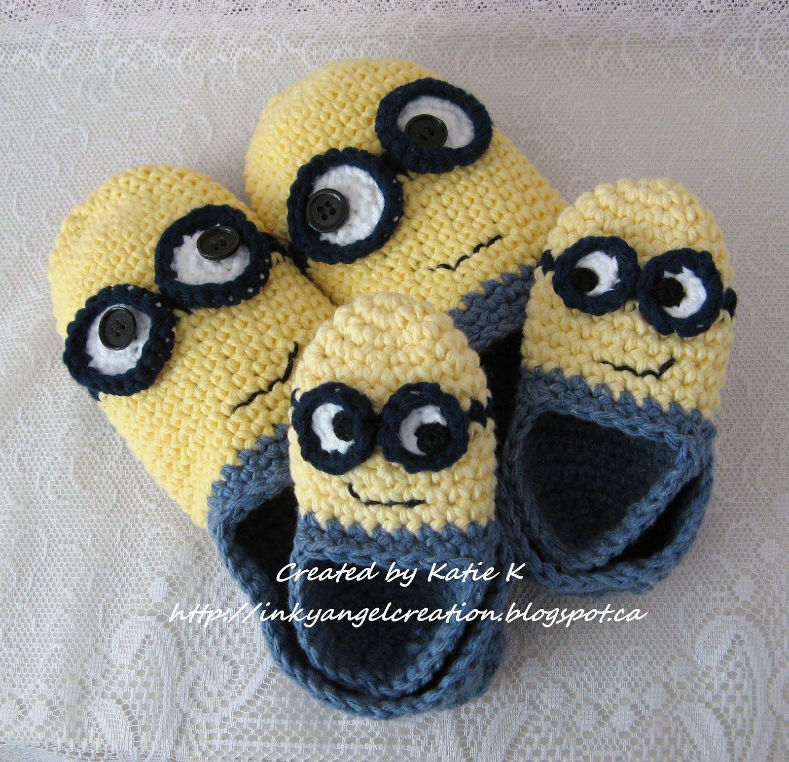 Free Pattern Crochet Minion Slippers : Inky Angel: Minion Slippers