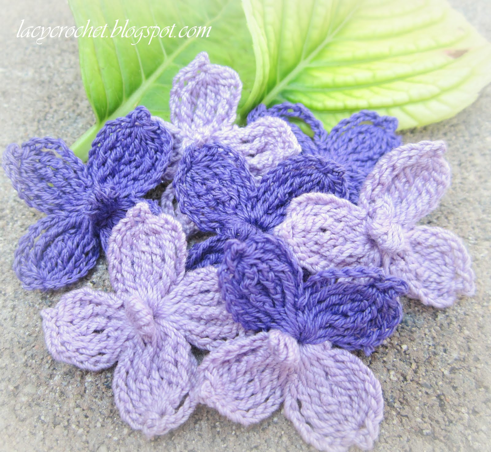 Lacy Crochet: Better Hydrangea Flowers