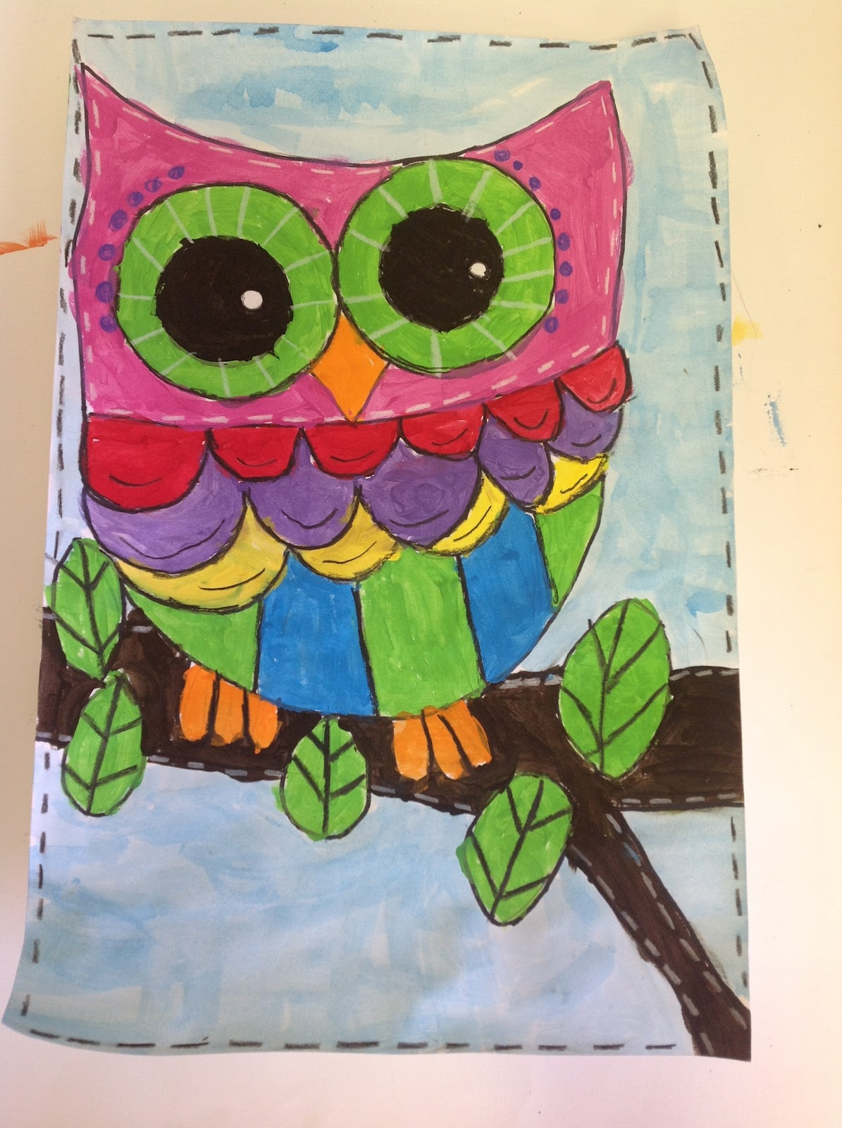 Color it like you mean it 3rd grade owls for Crafts for 3rd graders