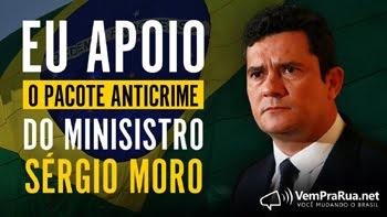 Esse Blog apoia o pacote anticrime do Ministro Sérgio Moro