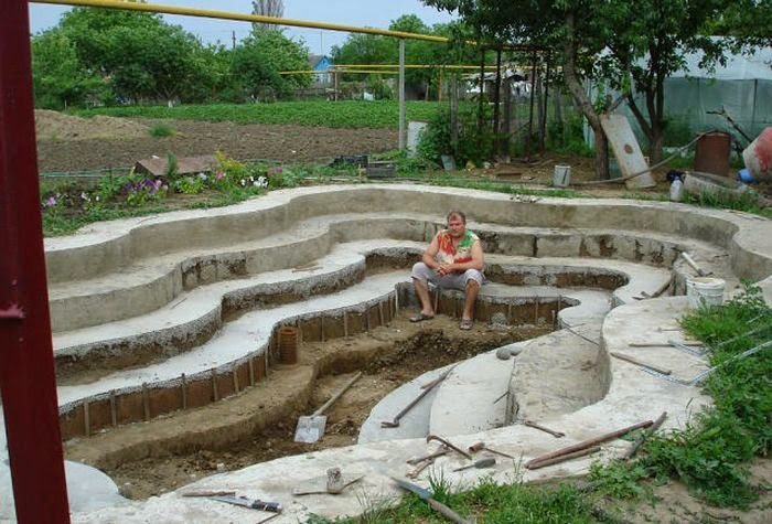 how to build a homemade swimming pool
