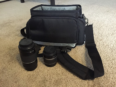 canon camera bag and lenses