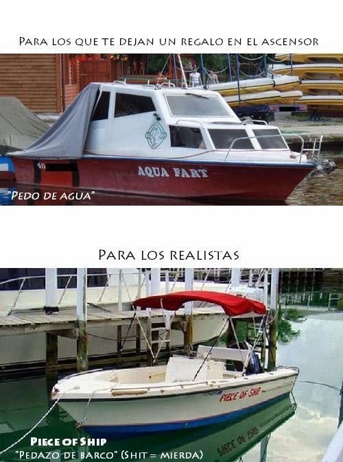 Tipos de barco - Pedo de agua, Pedazo de Barco