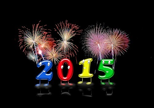 Happy New Year 2015 Wallpaper Dark Background