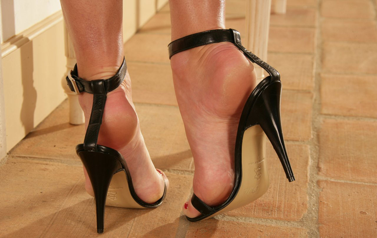 Sexy feet on high heels