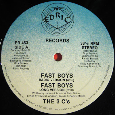 The 3 C's – Fast Boys (1985, VLS, 320)