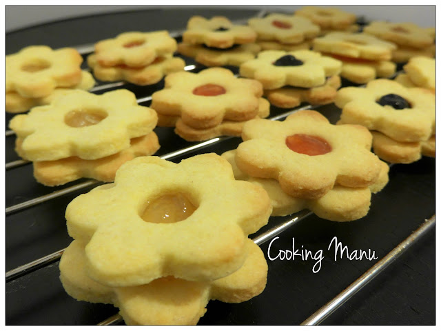 flower jam cookies