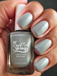 Royal Nail Icing, Sweet Concrete, grey, creme, nail polish, indie, indie brand