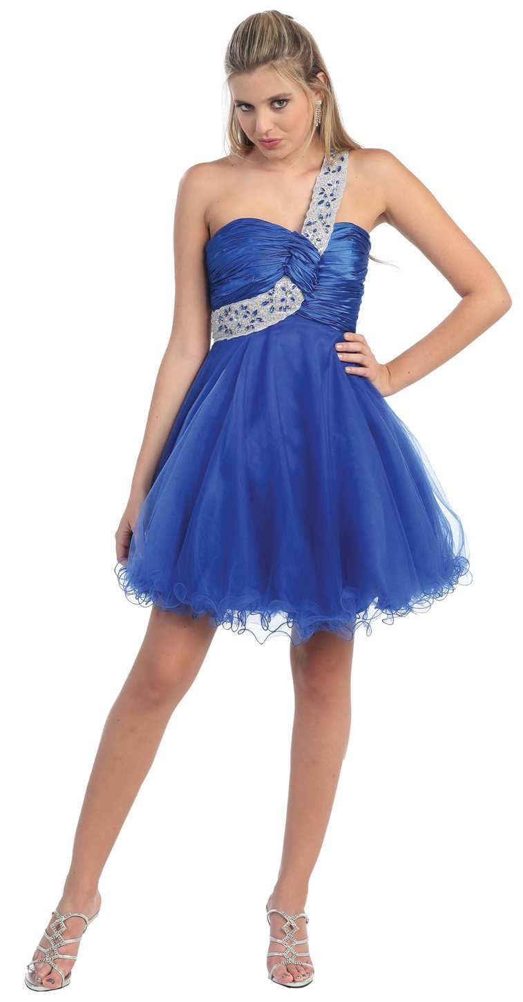 Best fashion collection one shoulder cocktail party junior prom dress