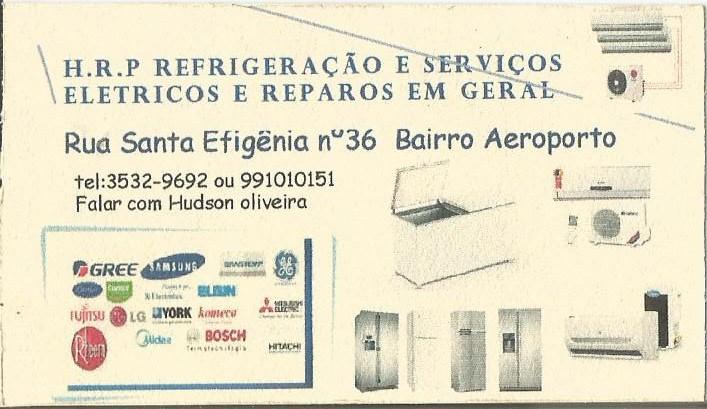 HRP REFRIGERAÇÃO E SERVIÇOS ELÉTRICOS.