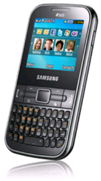 Samsung Mobile Chat 322: BlackBerry taste on Samsung Cell Phone