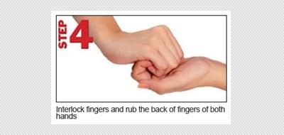 langkah keempat ujung jari tangan