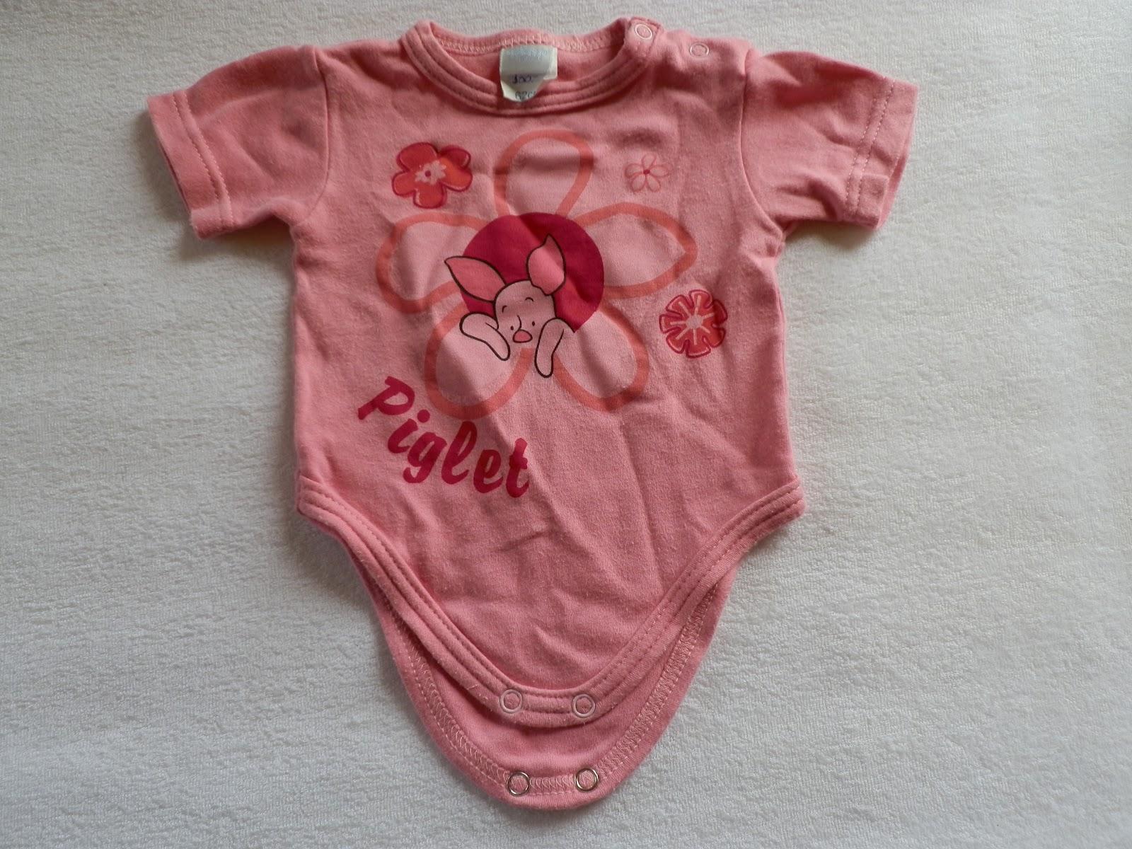 Disney Baby 62-es rövid ujjú fehér alapon rózsaszín pöttyös lányka body  Minnie egér mintával 14a648c21a