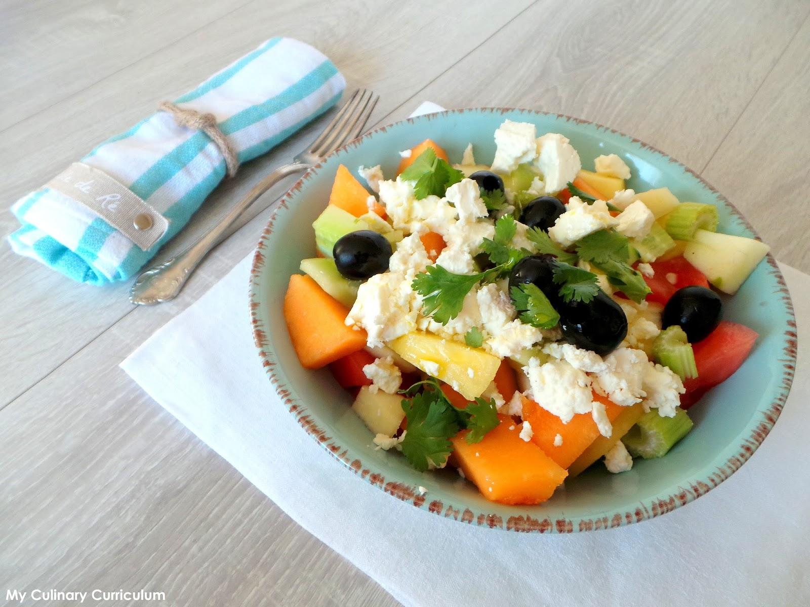 My culinary curriculum salade fra che pour l 39 t melon past que concombre feta c leri - Salade d ete composee ...