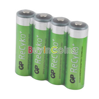 4 PCS Hi-power GP Recyko 2050mAh 1.2V Ni-MH NIMH Rechargeable AA Battery #1
