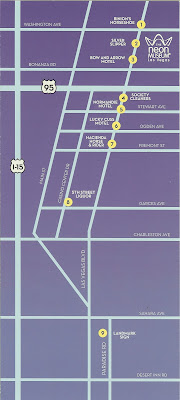Restored Las Vegas Neon Signs Tour Map