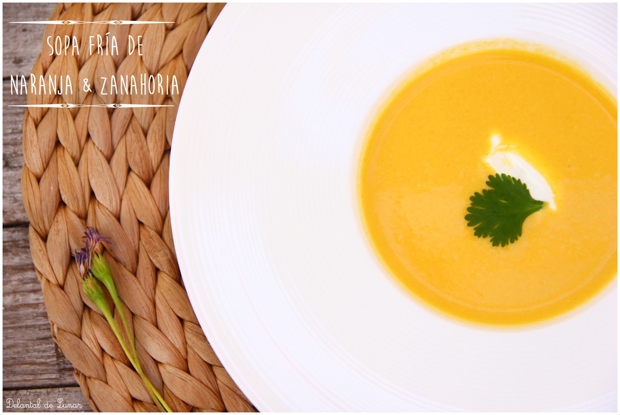 Foto: Sopa de naranja y zanahoria