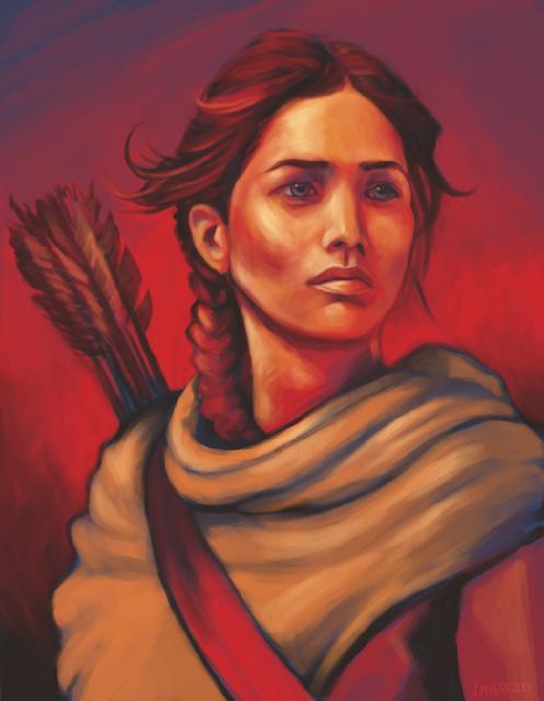 http://society6.com/JenHoney/Katniss-AKw_Print