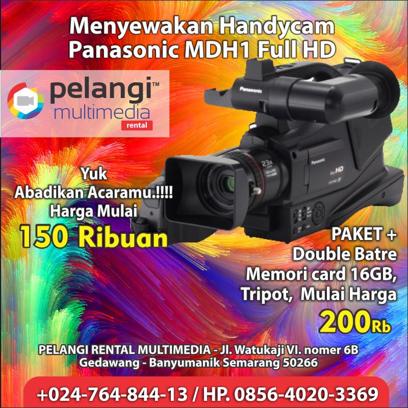 Sewa handycam MDH1 / +0856-4020-3369