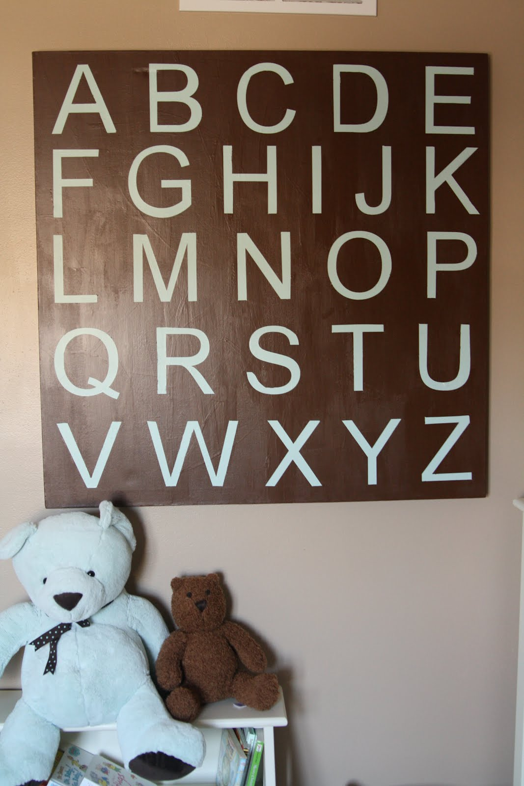 Attirant Large Alphabet Wall Art