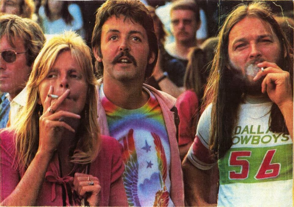 Linda, Paul McCartney e David Gilmour