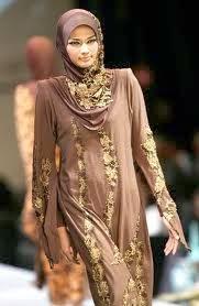 busana pengantin muslimah