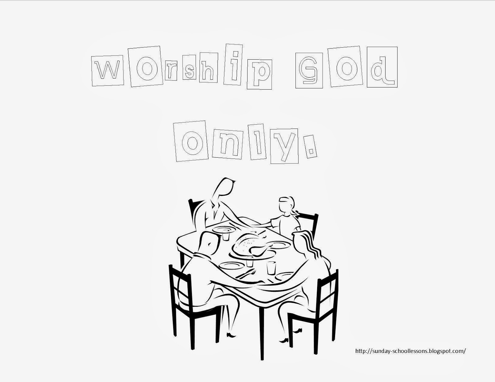 10 Commandments Coloring Page Number Two Sunday School