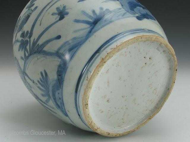 "<img src=""Chinese Ming Deer jar.jpg"" alt=""blue and white porcelain jar with deer foot rim or base"">"