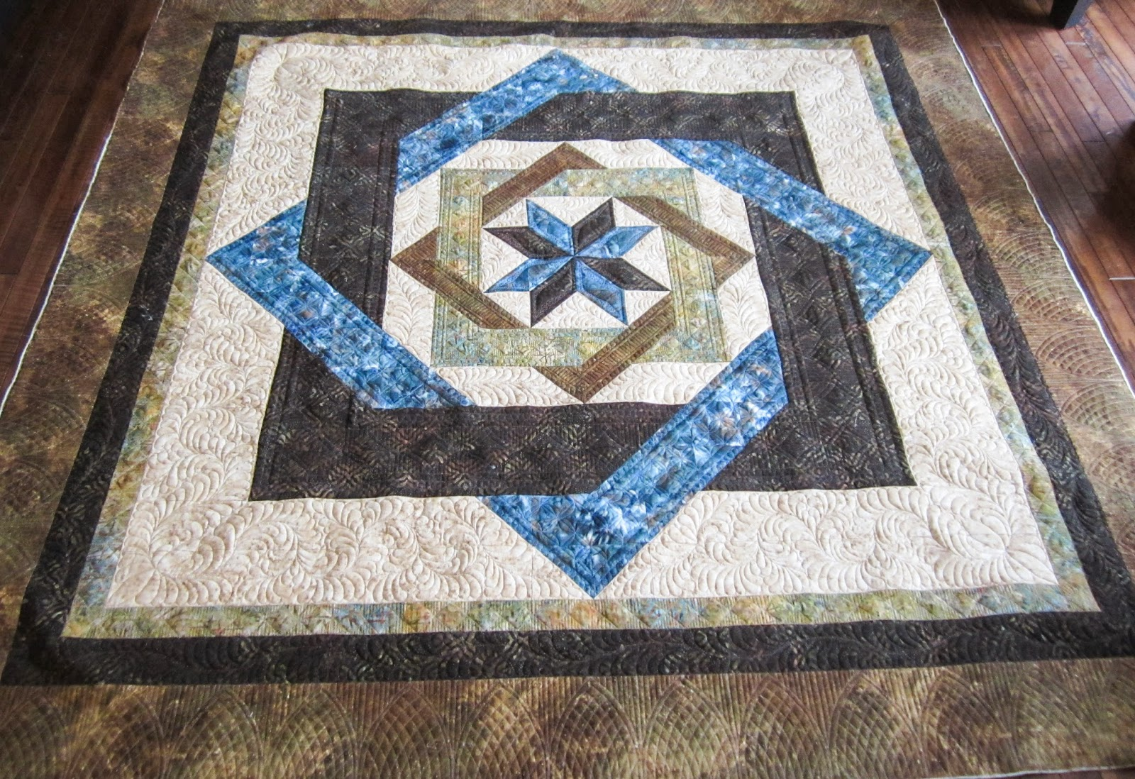 Sue Daurio's Quilting Adventures: Labyrinth Done - updated : labyrinth quilt pattern free - Adamdwight.com