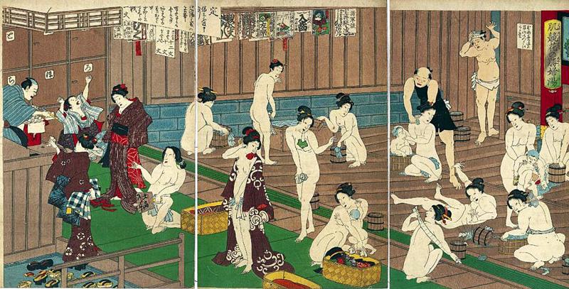 секс японцев в ванне