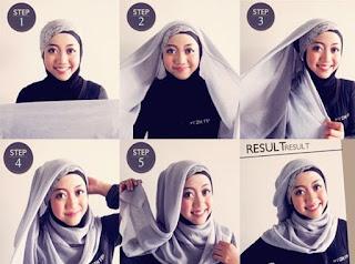 jilbab untuk wajah berbentuk bulat