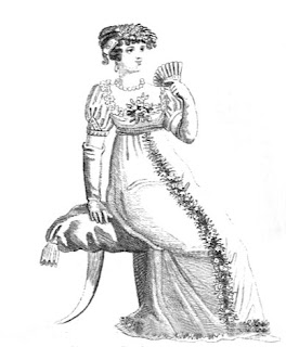 Parisian complete full dress   from La Belle Assemblée (Feb 1806)