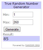 ganador sorteo el hombre de acero random.org