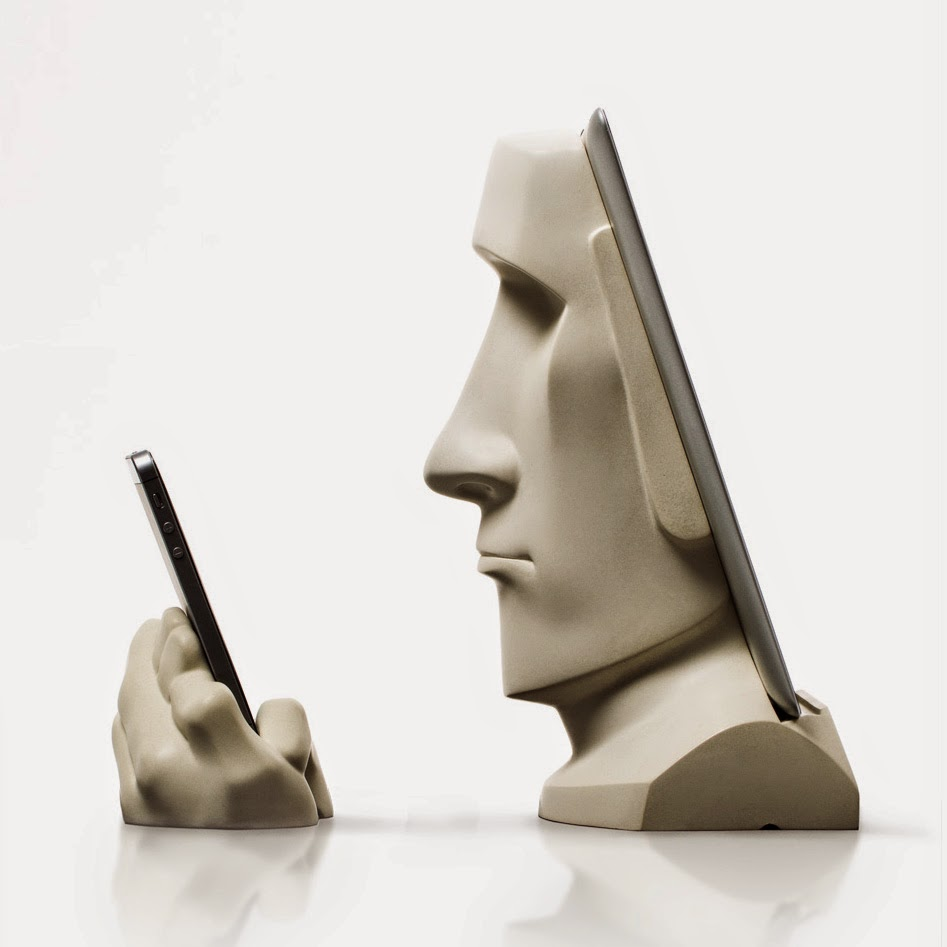 Moai iPad docking station by scott eaton