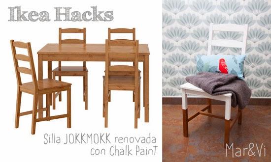 Mar vi blog ikea hacks silla jokkmokk renovada con chalk for Pintar mueble ikea chalk paint