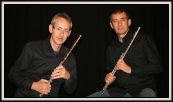MANEL REYES - JOSEP Mª LLORENS Professors de flauta travessera del Conservatori de Terrassa