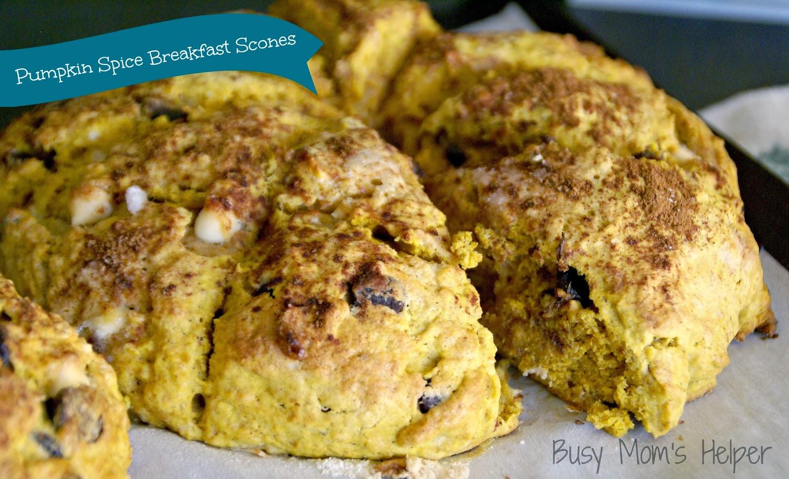 Pumpkin Spice Breakfast Scones - Busy Moms Helper