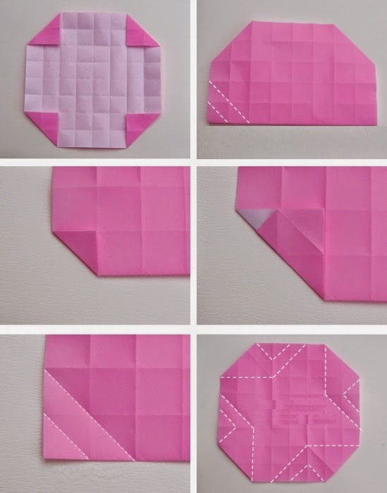 Origami Rose Easy Instructions Arts And Crafts Project Ideas